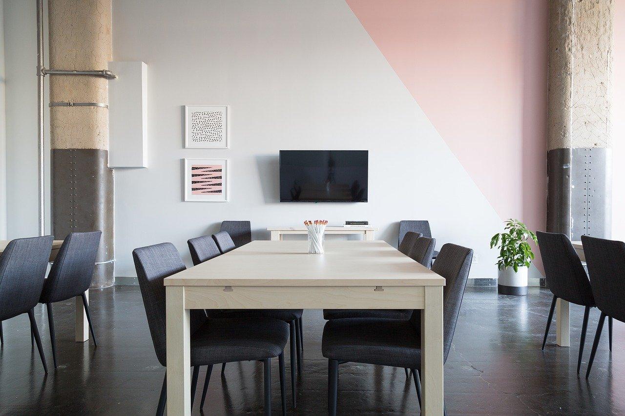 Kantoor muur verf interieur creatief